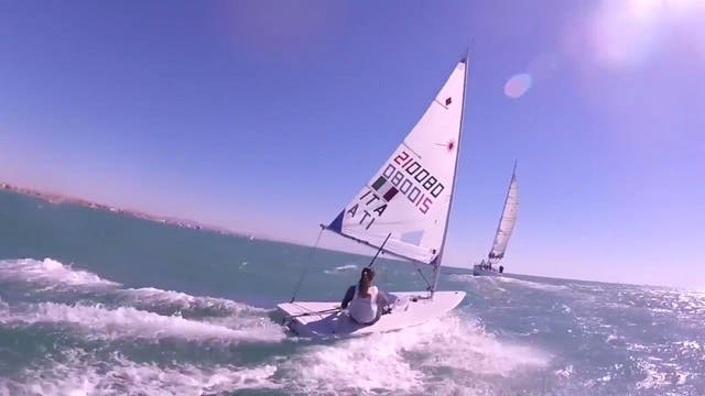 Laser 20 Knots Downwind with the Ital...