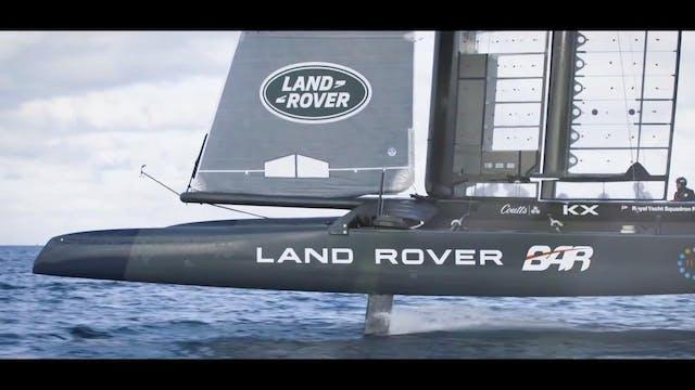 Land Rover BAR - Training from sunris...