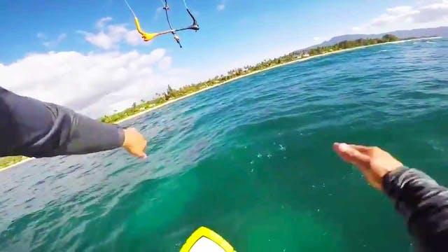Amazing Kite Throw On A Foil