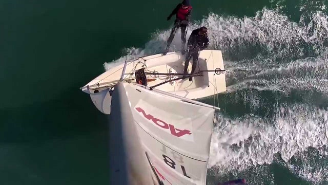 Port Elizabeth - Laser vs Skiff in a breeze