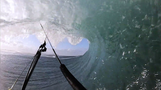 Keahi barrel hunting in Australia