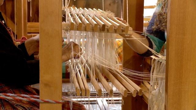 13. Block damask at the loom, part A