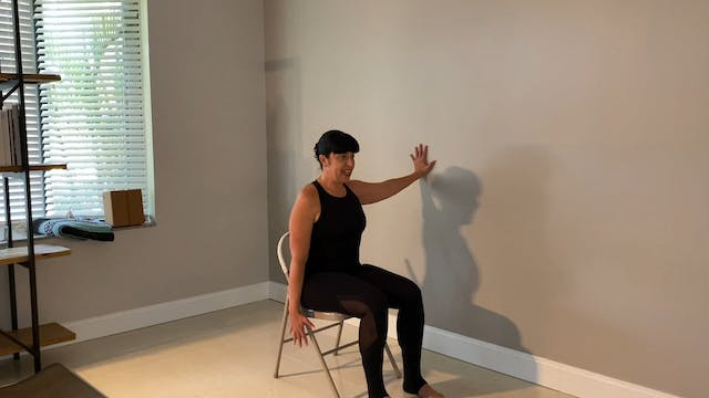 Chair Yoga at the Wall with Sari Vela...