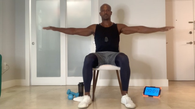 Golden Ankles: Full Body Chair Workout with Elmer Hickman (30 mins)