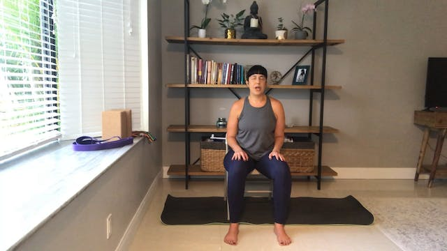 Chair Yoga for Lower Body Strength an...