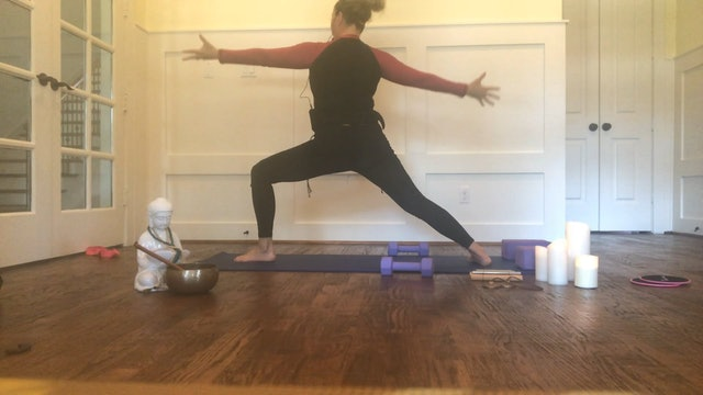 Yoga Sculpt with Weights + Block with Loren Bassett (35 mins)