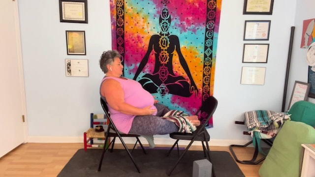 Gentle and Yin Chair Yoga with Sunny Barbee (45 mins)