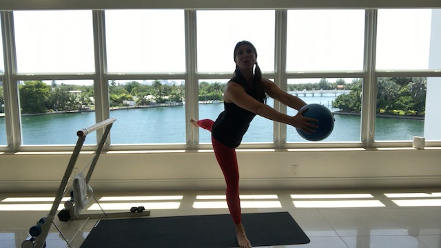 Barre with Ball and Weights with Elizabeth Vino (60 mins)