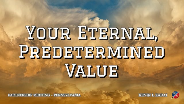 Your Eternal, Predetermined Value - K...