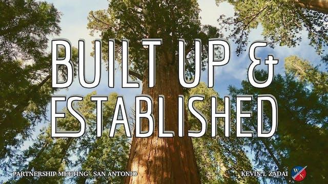 Built Up & Established - Kevin Zadai