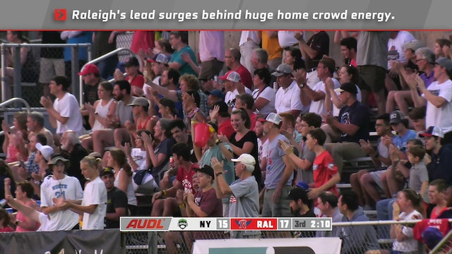 Greatest Matches New York at Raleigh Double Overtime game from 2019