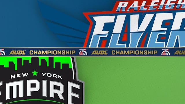 Raleigh Flyers vs. New York Empire 0...