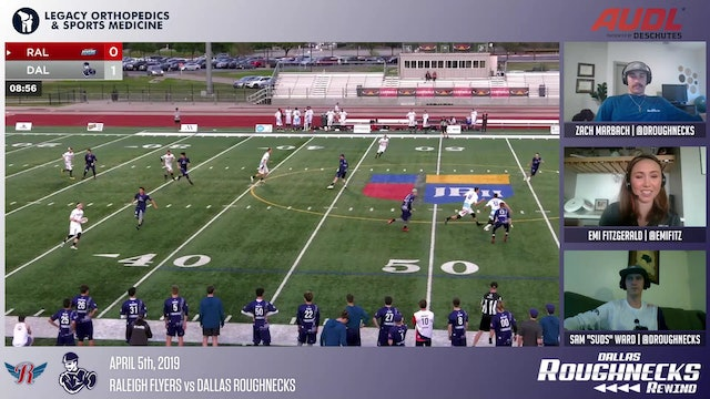 Roughneck Rewind 04: 2019 AUDL Season Opener vs Raleigh Flyers
