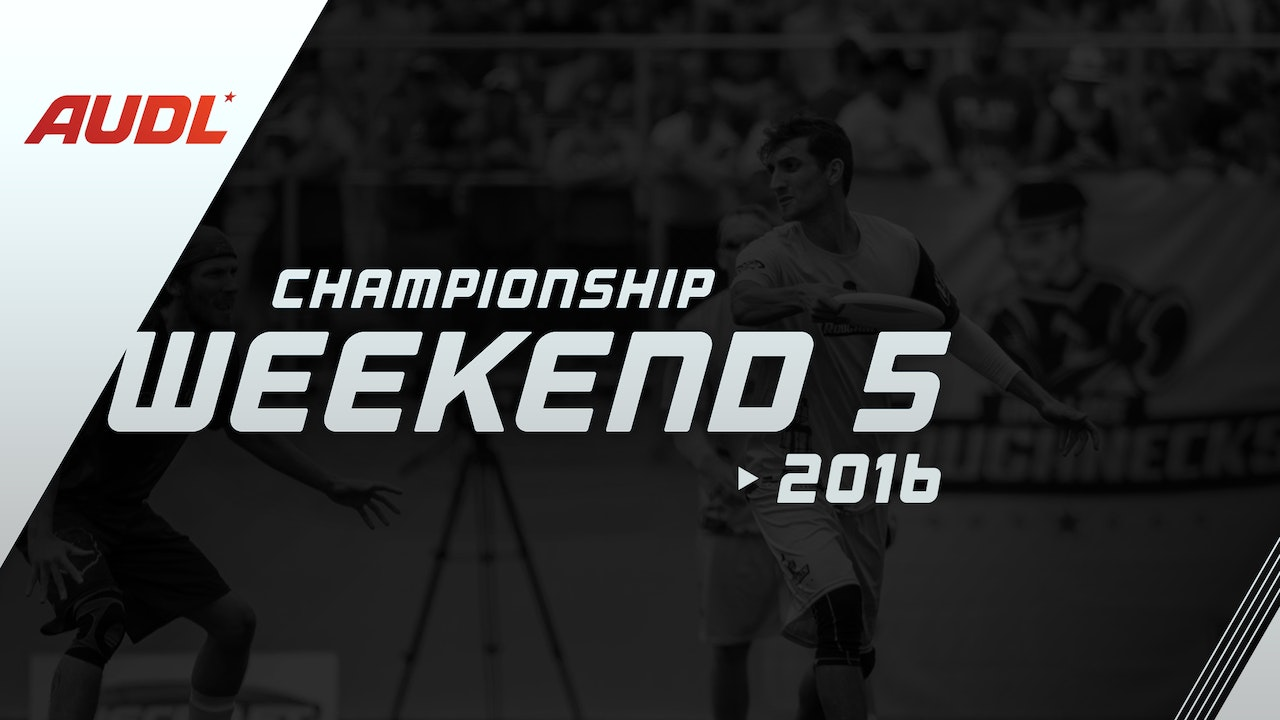 2016 Championship Weekend