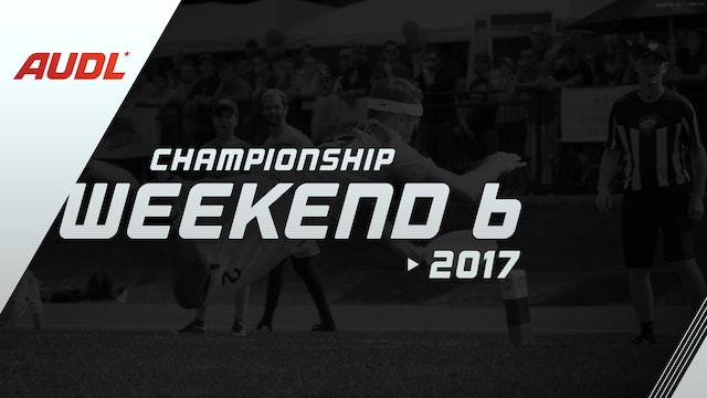 2017 Championship Weekend