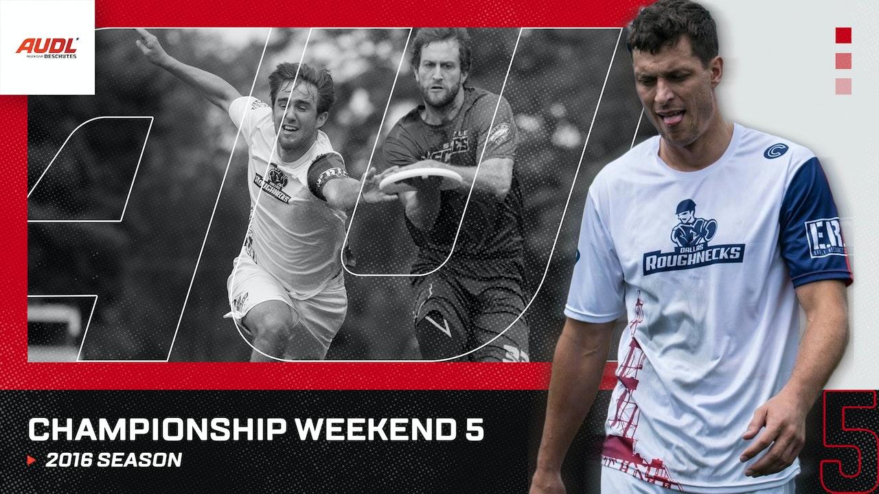 2016 Championship Weekend