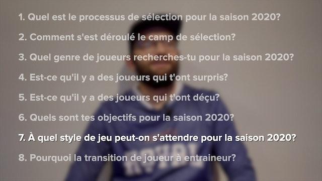 Retour sur le camp de sélection 2020 avec Stève Bonneau