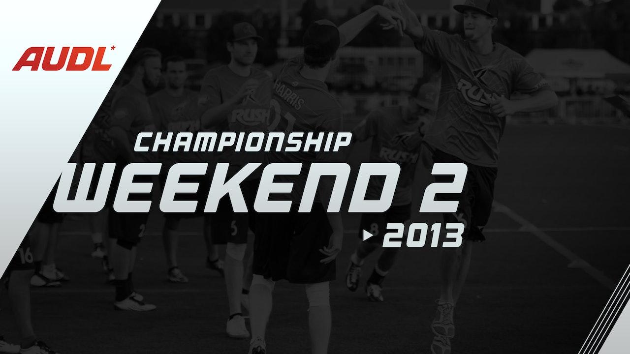 2013 Championship Weekend