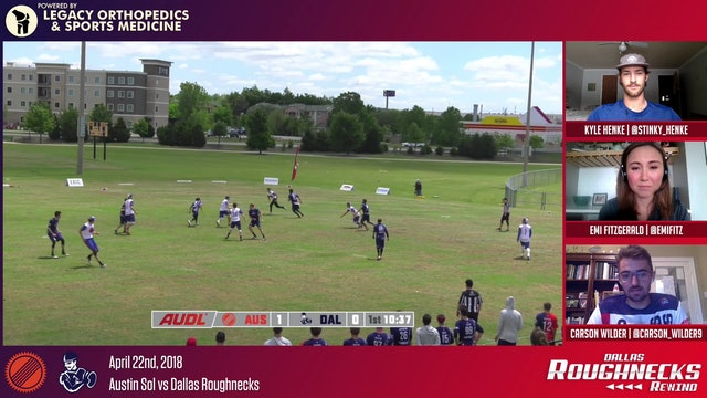 Roughneck Rewind 02: 2018 AUDL Regular Season vs Austin Sol