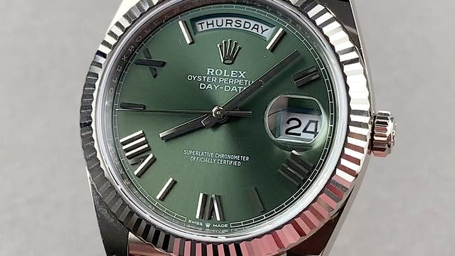 """Rolex Day-Date """"President"""" Olive Dial..."""