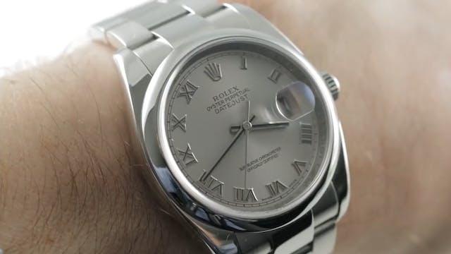 Rolex Datejust 36mm Domed Bezel Roman...