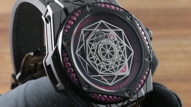 Hublot Big Bang One Click Sang Bleu All Black Pink (465.Cs.1119.VR.1233.Mxm18)