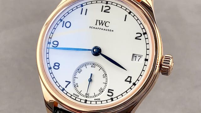 IWC Portugieser Hand-Wound Eight Days...