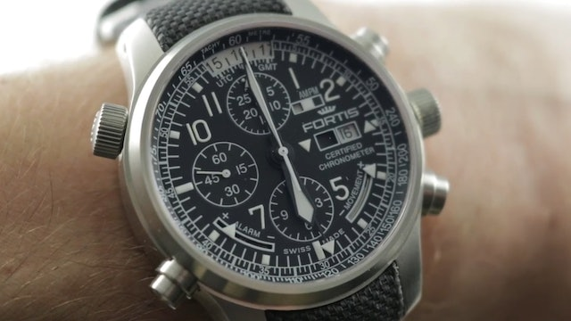 Fortis F 43 Flieger Chronograph Alarm GMT 703.10.200 Review