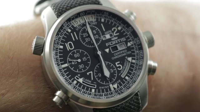 Fortis F 43 Flieger Chronograph Alarm...