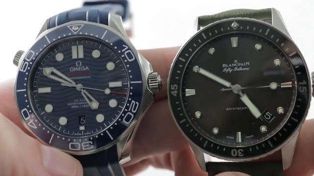 Omega Seamaster Diver 300M vs Blancpa...