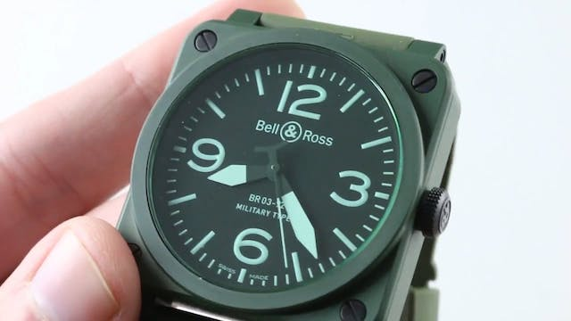 Bell & Ross BR 03 92 Military Green C...