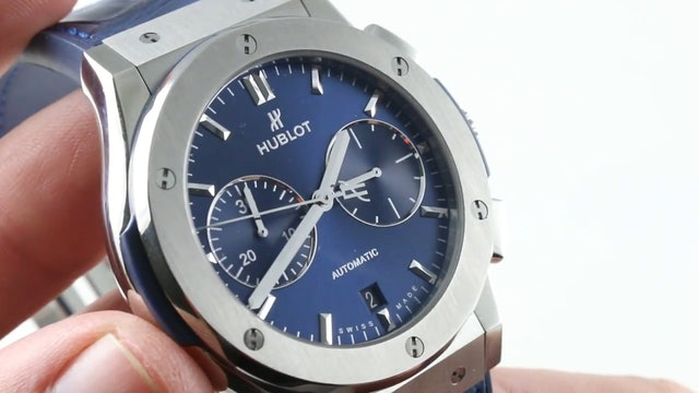 Hublot Classic Fusion Titanium (Blue Dial) 521.NX.7170.LR Review