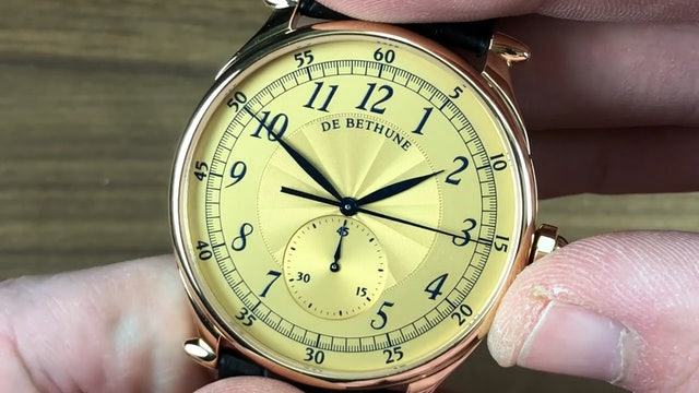 De Bethune Db8R Monopusher Chronograph: De Bethune Watch Review
