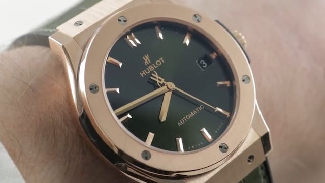 "Hublot Classic Fusion ""King Gold"" Gre..."
