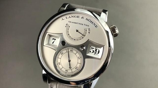 A. Lange & Sohne Zeitwerk Platinum Limited Edition 140.025 Review