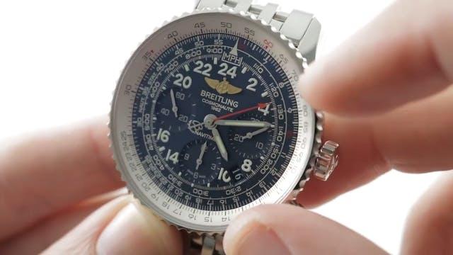 Breitling Navitimer Cosmonaute Blue D...