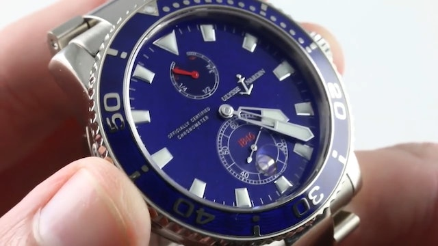 Ulysse Nardin Maxi Marine Diver Limited Edition Dive Watch Chronometer Review