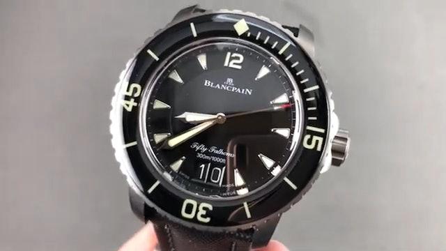 Blancpain Fifty Fathoms Grande Date Titanium Dive Watch 5050 12B30 B52A Review