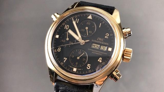 IWC Pilot Doppelchronograph Yellow Gold IW3711