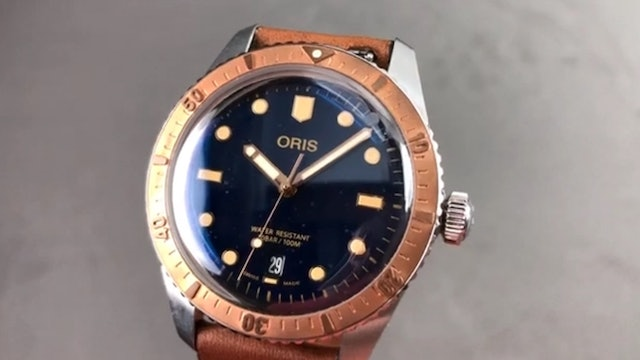 Oris Divers Sixty Five Stainless Steel Bronze Dive Watch 733 7707 4355LS Review