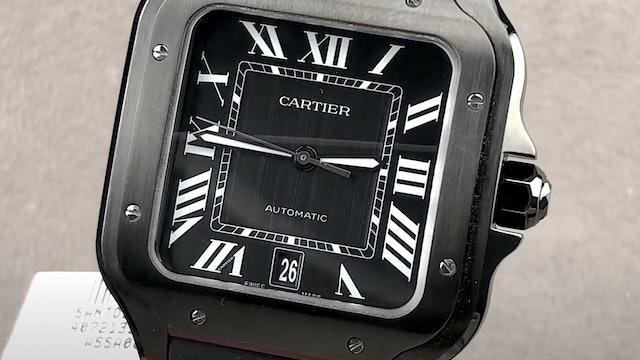 Cartier Santos De Cartier Large Model Black ADLC WSSA0039