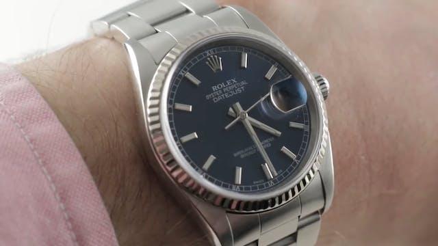 Rolex Datejust Blue Dial Oyster Brace...