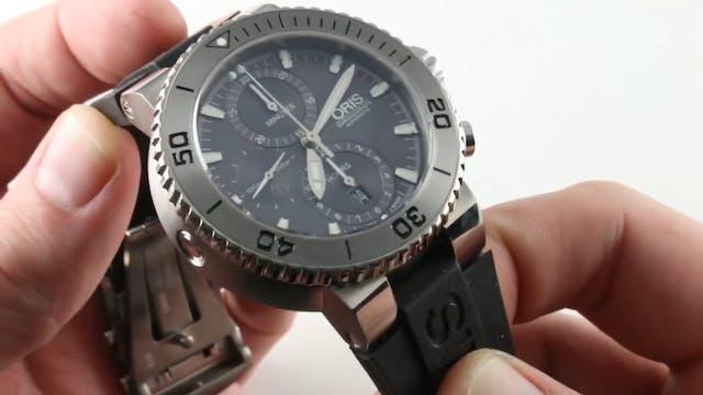 Oris Aquis Titanium Tungsten Chronogr...