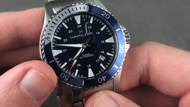 Hamilton Khaki Navy Scuba Dive Watch ...