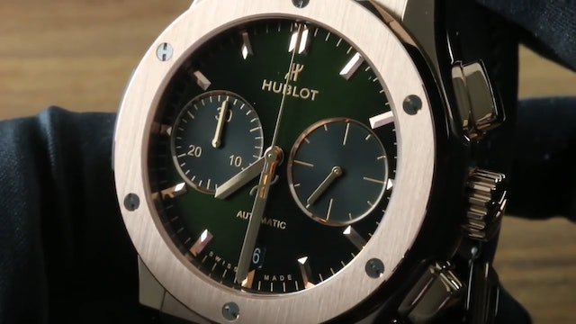 Hublot Classic Fusion Chronograph King Gold Green 521.Ox.8980.LR Review