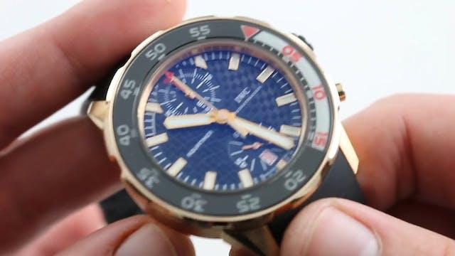 IWC Aquatimer Chronograph IW3769-05 W...