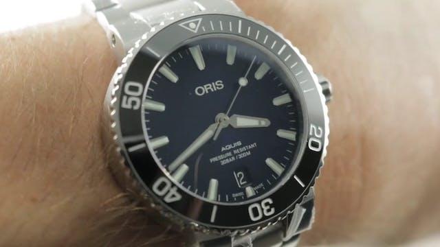 Oris Aquis Date 39.5mm Blue Dial 01 7...