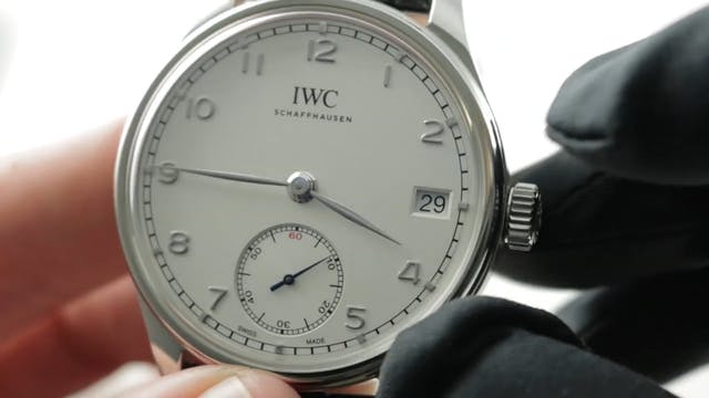 IWC Portuguese Hand Wound Eight Days ...