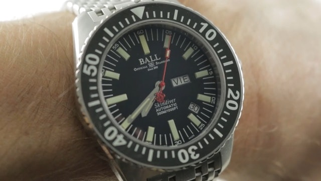 Ball Watch Company Engineer Master II Skindiver Dm2108A Sj Bk Dive Watch Review