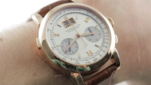 A. Lange & Sohne Datograph Rose Gold (403.032) Review